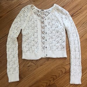 Free People Crochet Cardigan